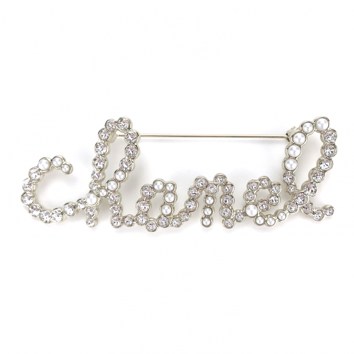 Chanel CHANEL Gold Crystal Pins & brooches for Women \N
