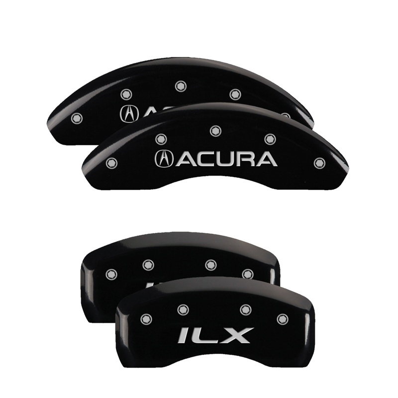MGP Caliper Covers 39020SILXBK Set of 4: Black finish, Silver Acura / ILX Acura ILX 2016-2018
