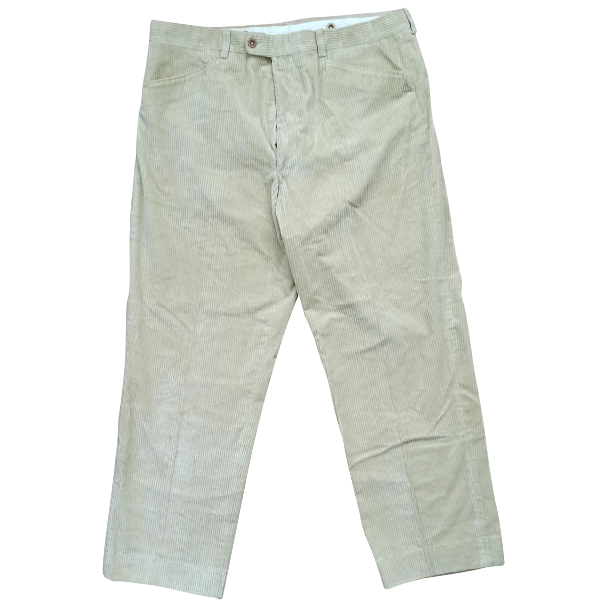 Hermès \N Beige Cotton Trousers for Men 52 IT