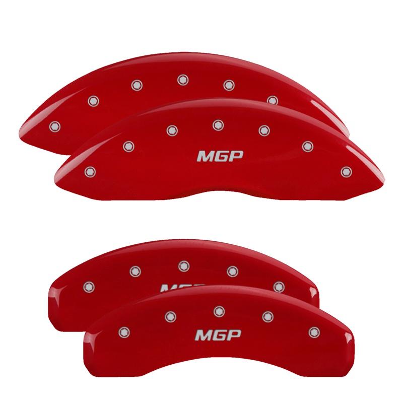 MGP Caliper Covers 10213SMGPRD Set of 4: Red finish, Silver MGP / MGP Ford
