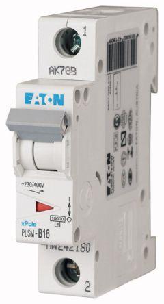 Moeller Electric xPole 16 A MCB Mini Circuit Breaker, 1P Curve B
