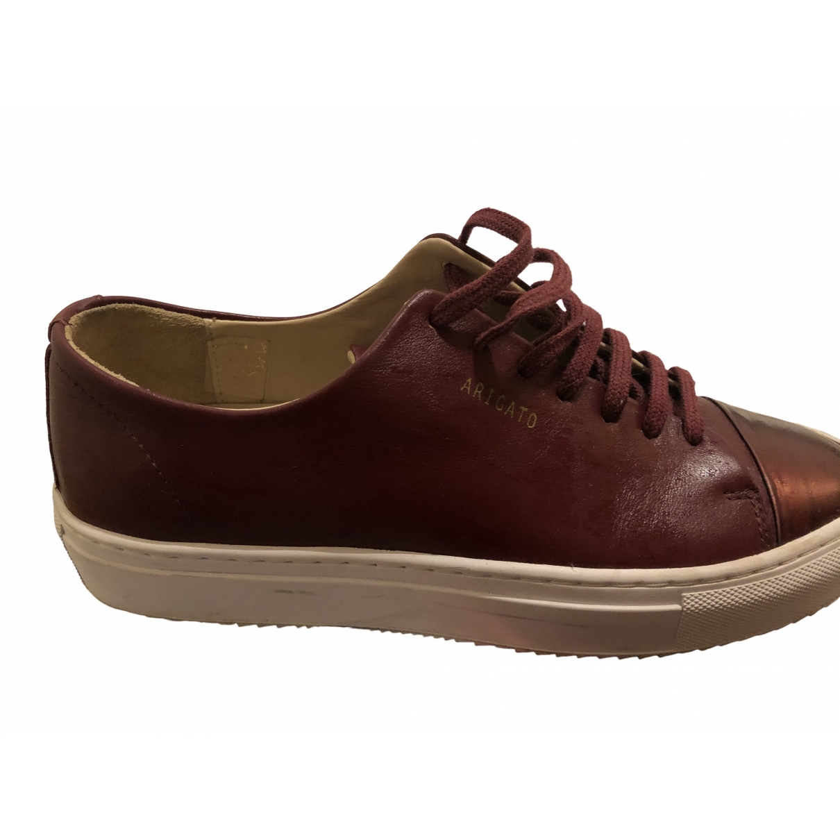 Axel Arigato \N Burgundy Leather Trainers for Women 37 EU