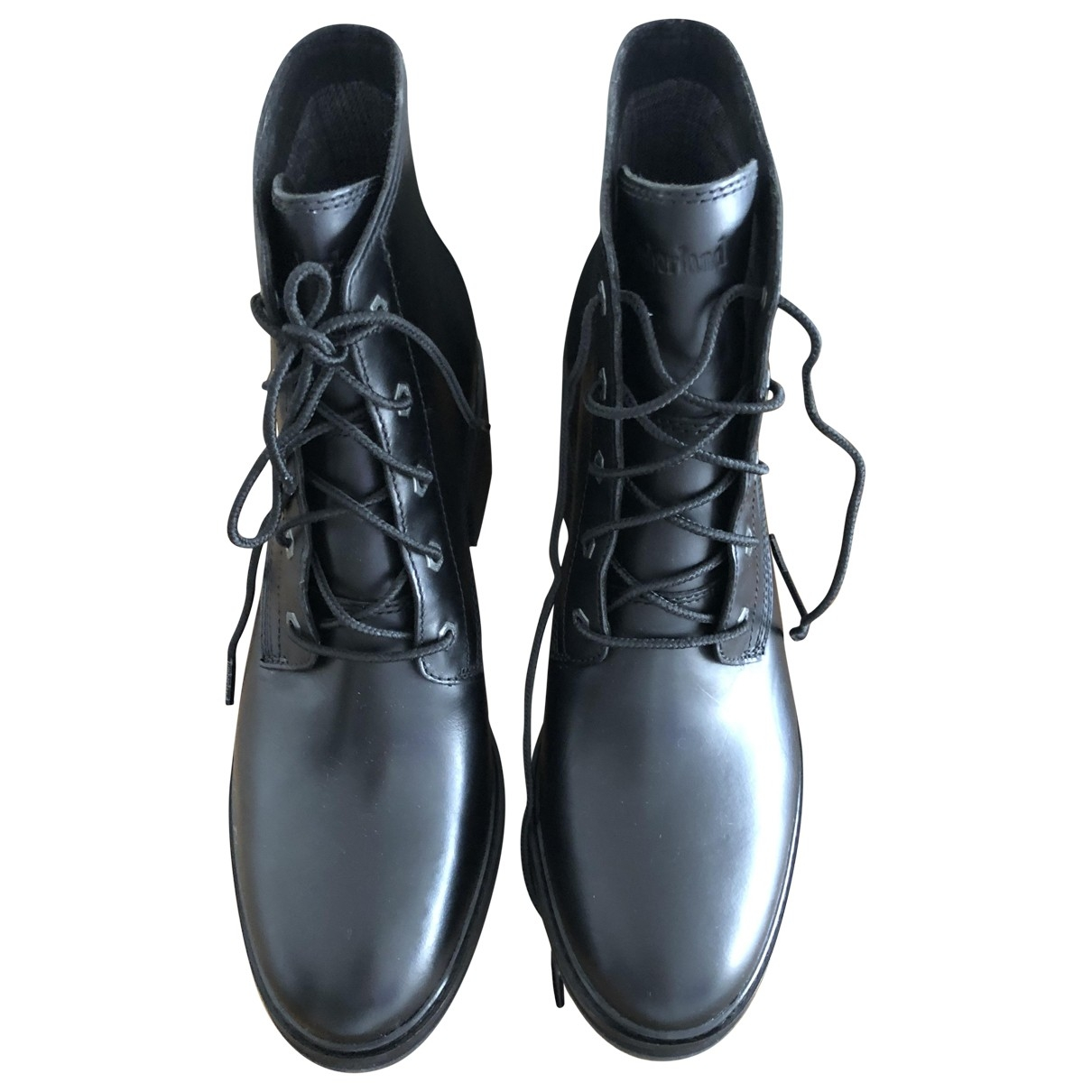 Timberland \N Black Leather Ankle boots for Women 10 US