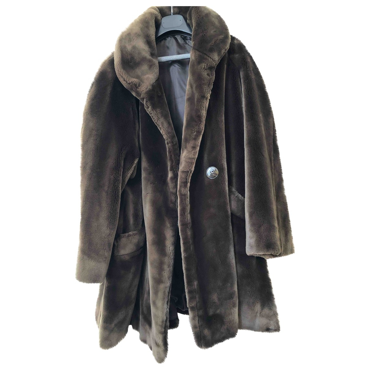 Non Signé / Unsigned \N Brown coat for Women 44 FR