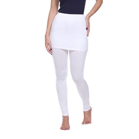 White Mark Skirted Womens Mid Rise Legging, X-large , White