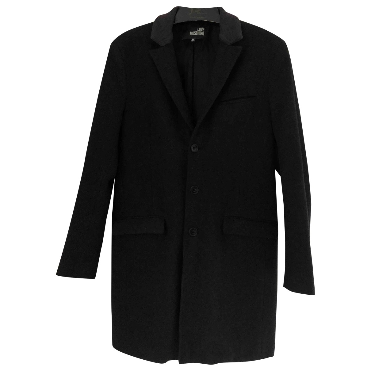 Moschino Love \N Black Cotton coat  for Men 42 FR