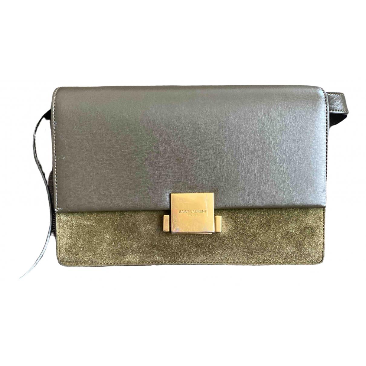 Saint Laurent Bellechasse Khaki Leather handbag for Women \N