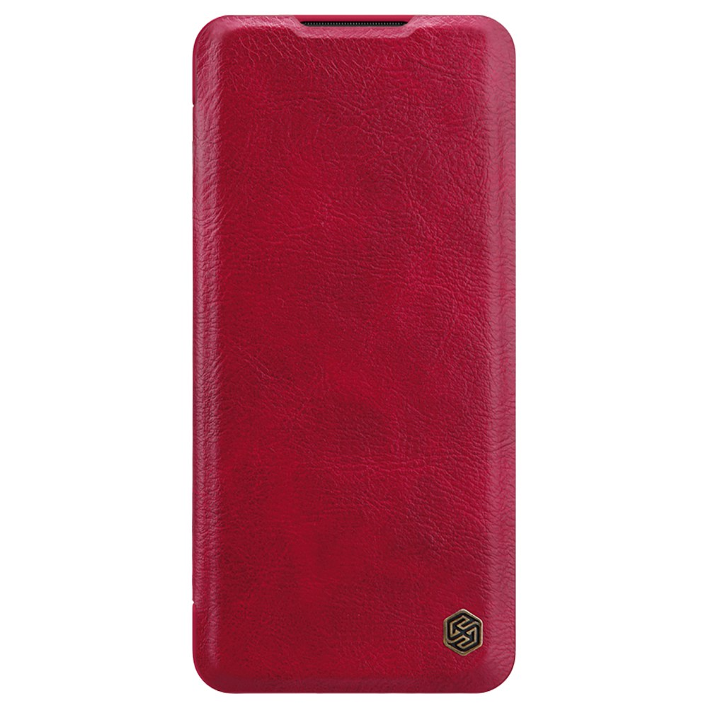 NILLKIN Protective Leather Phone Case For Xiaomi CC9 Pro / Xiaomi Mi Note 10 / Xiaomi Mi Note 10 Pro Smartphone - Red