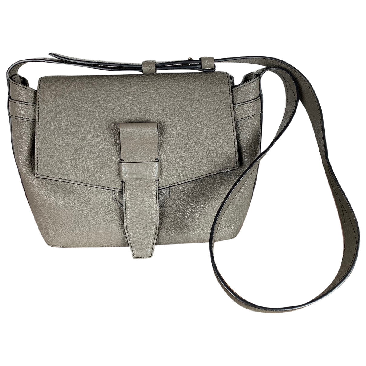 Lancel Charlie Grey Leather handbag for Women \N