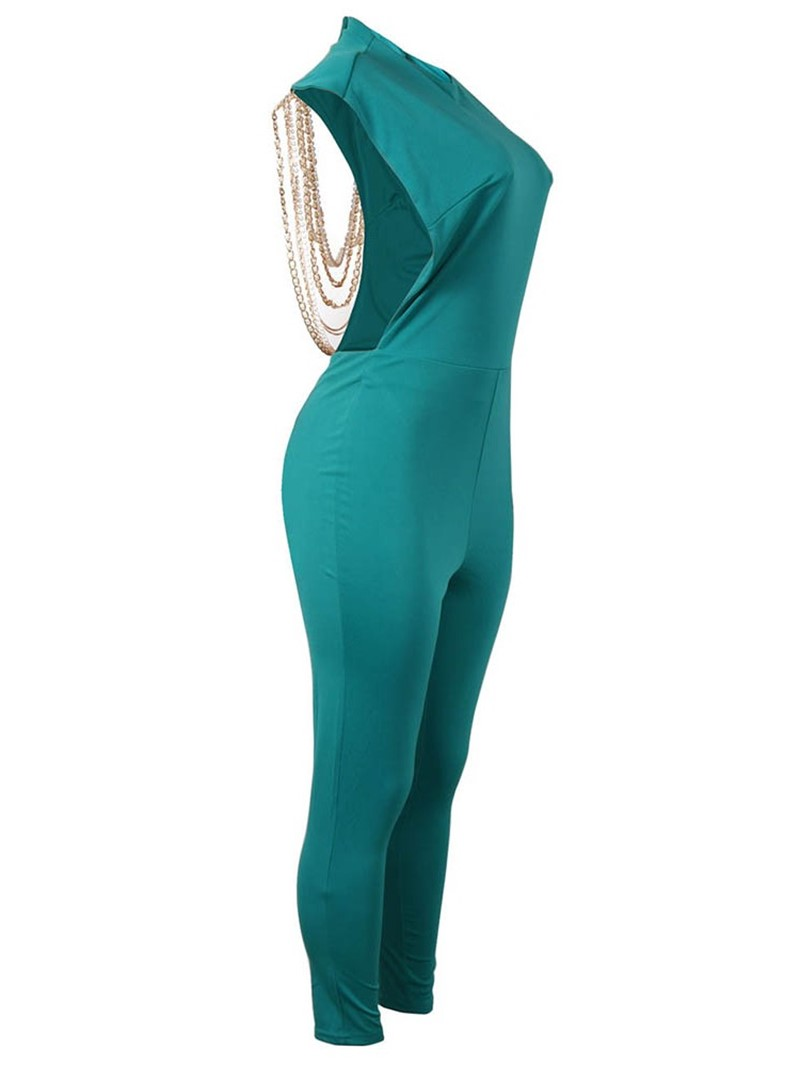 Ericdress Backless Prom Plain Pencil Pants High Waist Jumpsuit