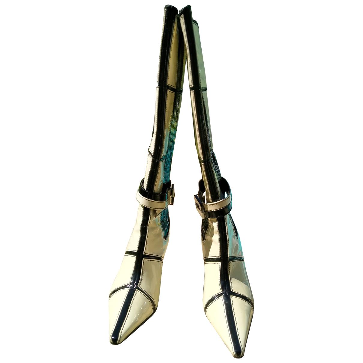 Cesare Paciotti \N White Leather Boots for Women 38 EU