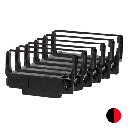 Compatible Epson ERC-30 New Black/Red Ribbon 6/pack