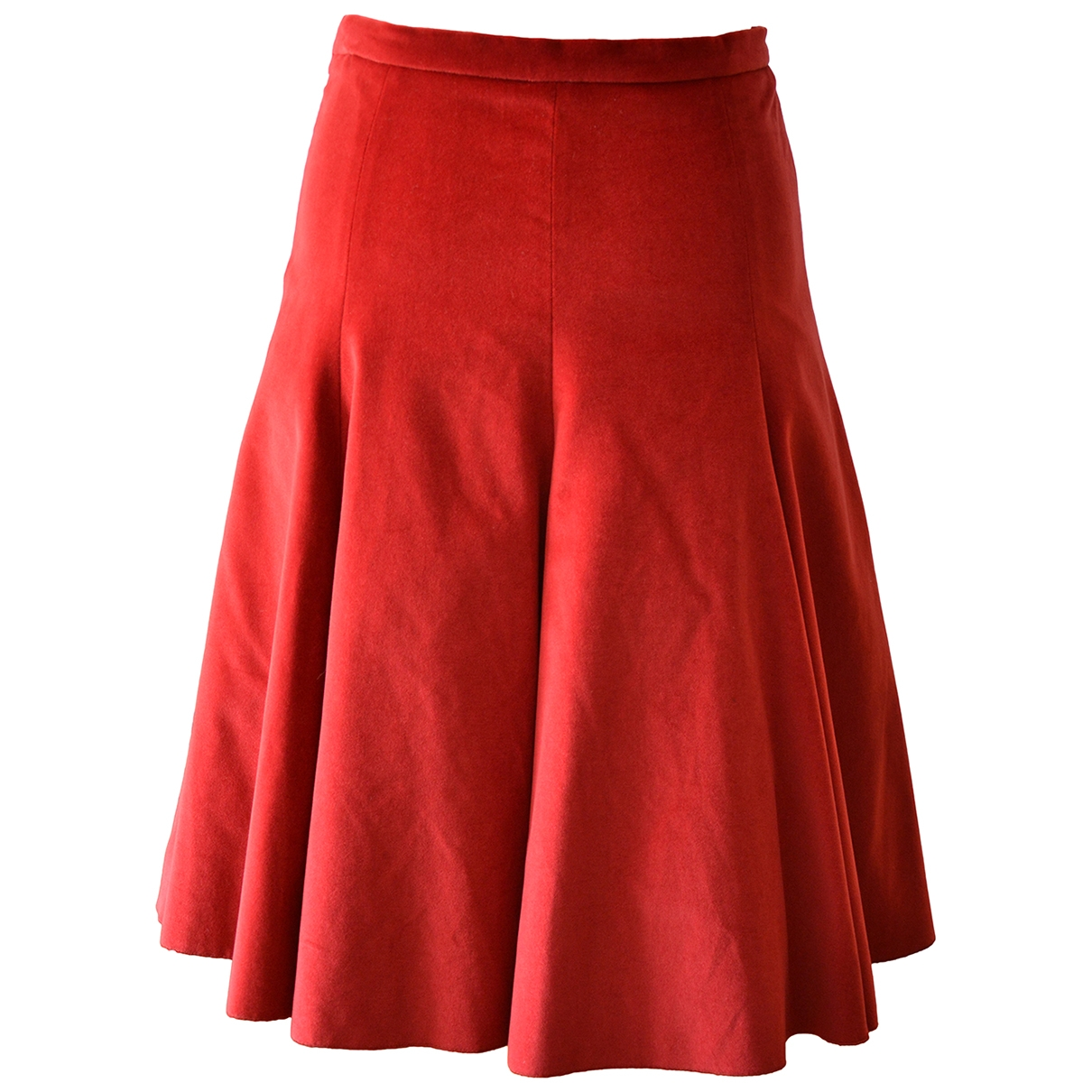 Moschino Cheap And Chic \N Red Cotton skirt for Women 42 IT