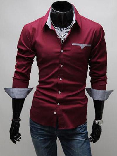 Milanoo Long Sleeve Shirt Black Spread Collar Tone Tone Plaid Men Casual Shirt