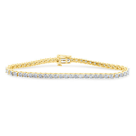 2 CT. T.W. Genuine Diamond 10K Yellow Gold Bracelet, One Size , No Color Family