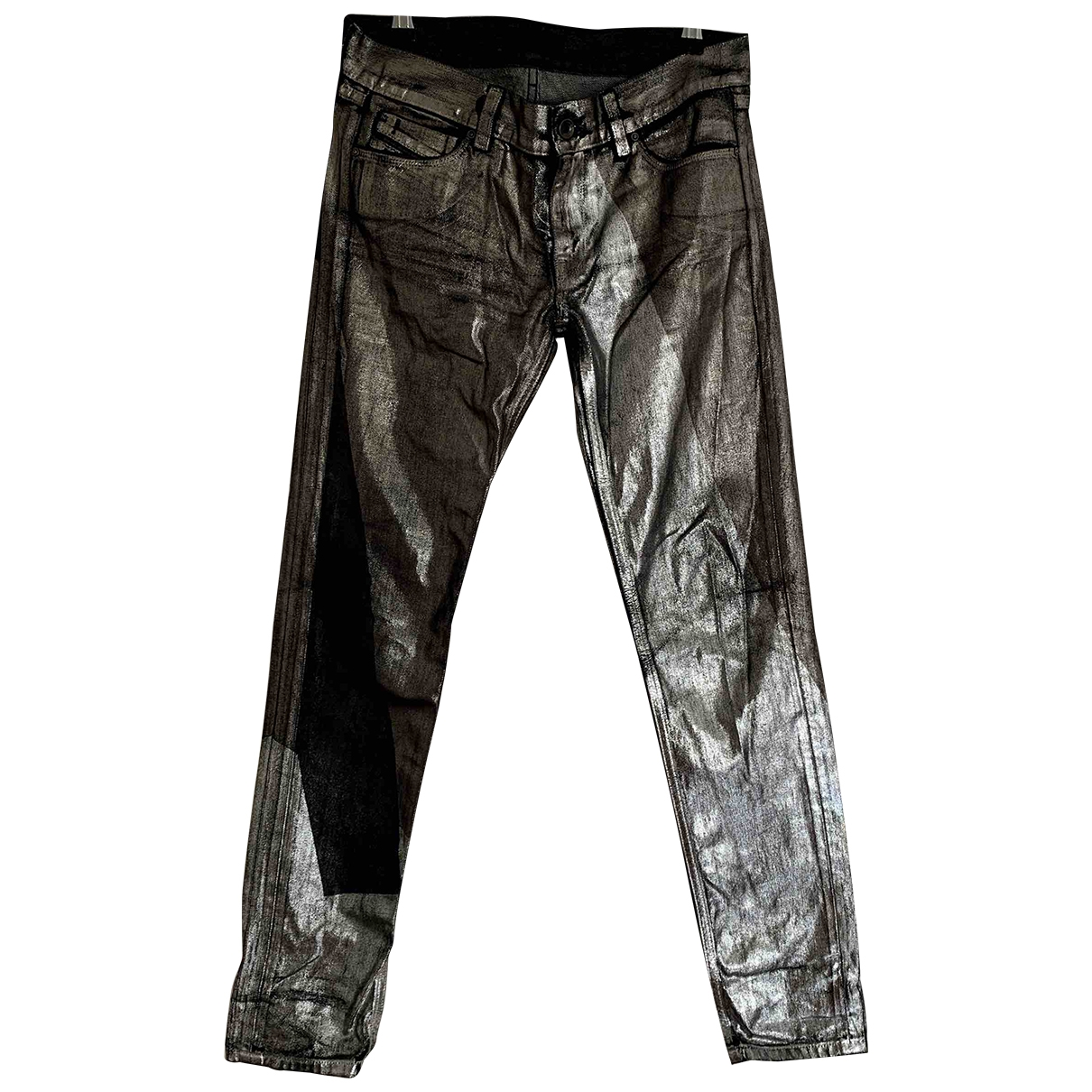 Diesel Black Gold \N Silver Cotton Jeans for Women 27 US