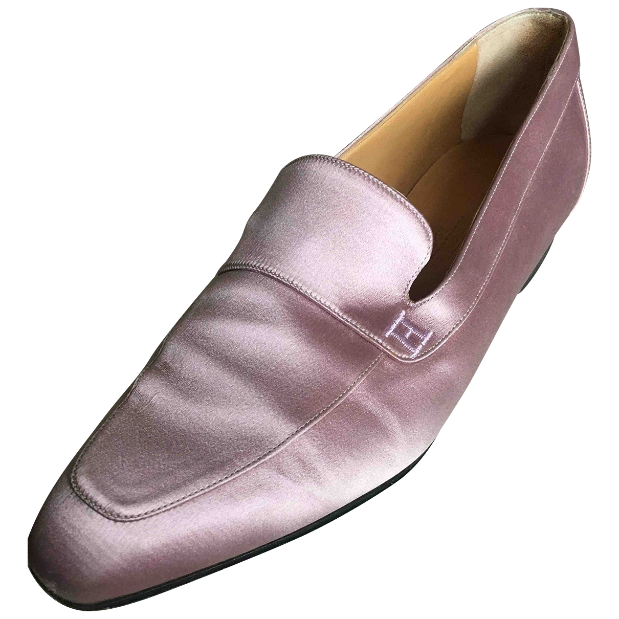 Hermès \N Pink Cloth Flats for Women 36.5 IT