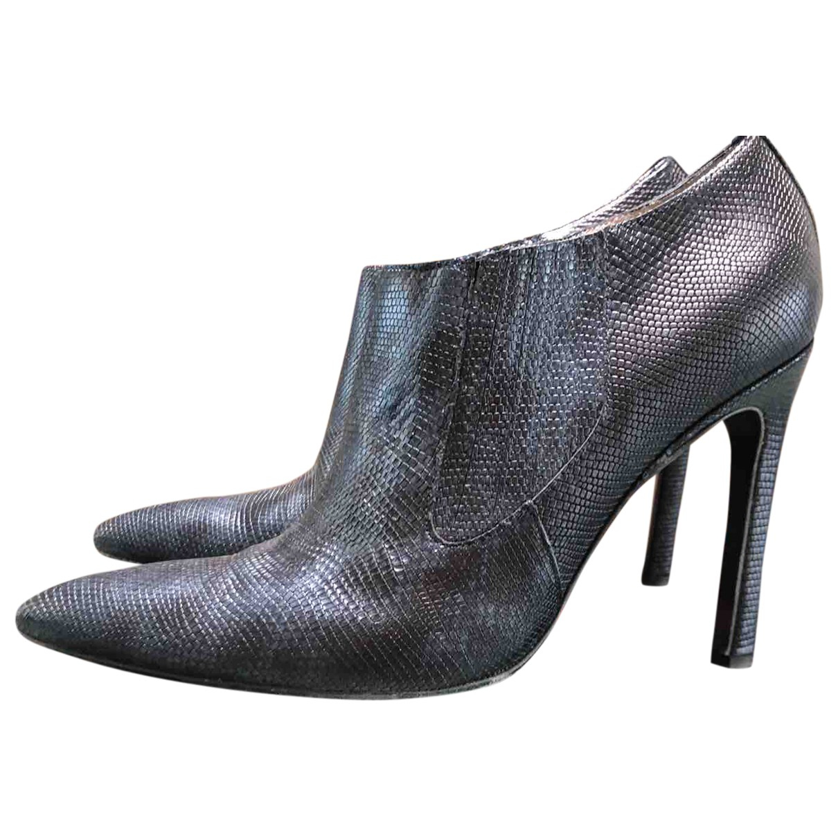 Free Lance \N Blue Leather Ankle boots for Women 39 EU