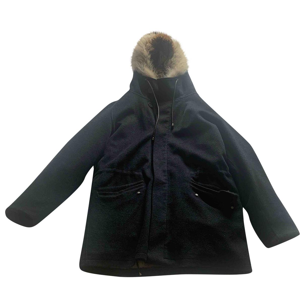 Yves Salomon \N Navy Rabbit coat  for Men M International