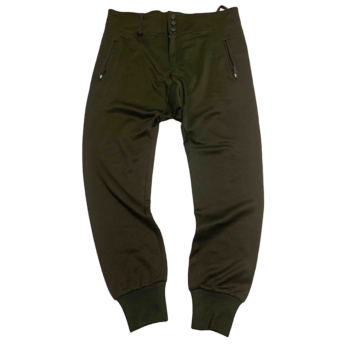 Y-3 \N Green Cotton Trousers for Men S International