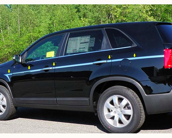 Quality Automotive Accessories 12-Piece 1-Inch Width Upper Arrow Accent Trim Kia Sorento 2012