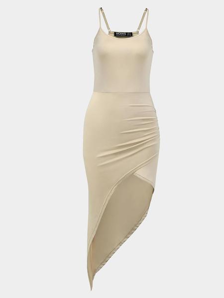 Yoins Asymmetric Body-Conscious Cami Dress