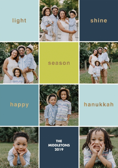 Hanukkah 5x7 Cards, Premium Cardstock 120lb with Scalloped Corners, Card & Stationery -Season Of Light
