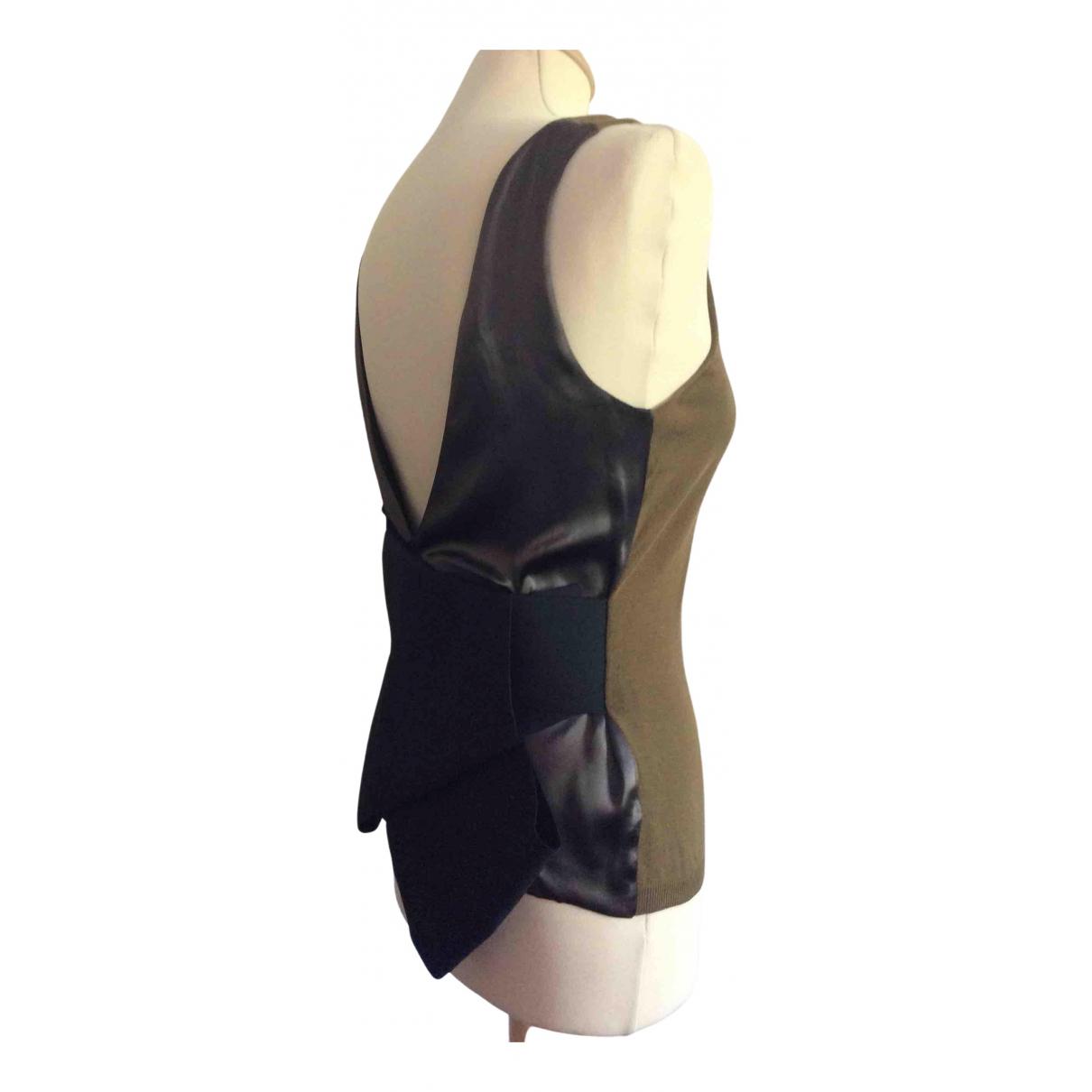 Lanvin \N Khaki Silk  top for Women S International