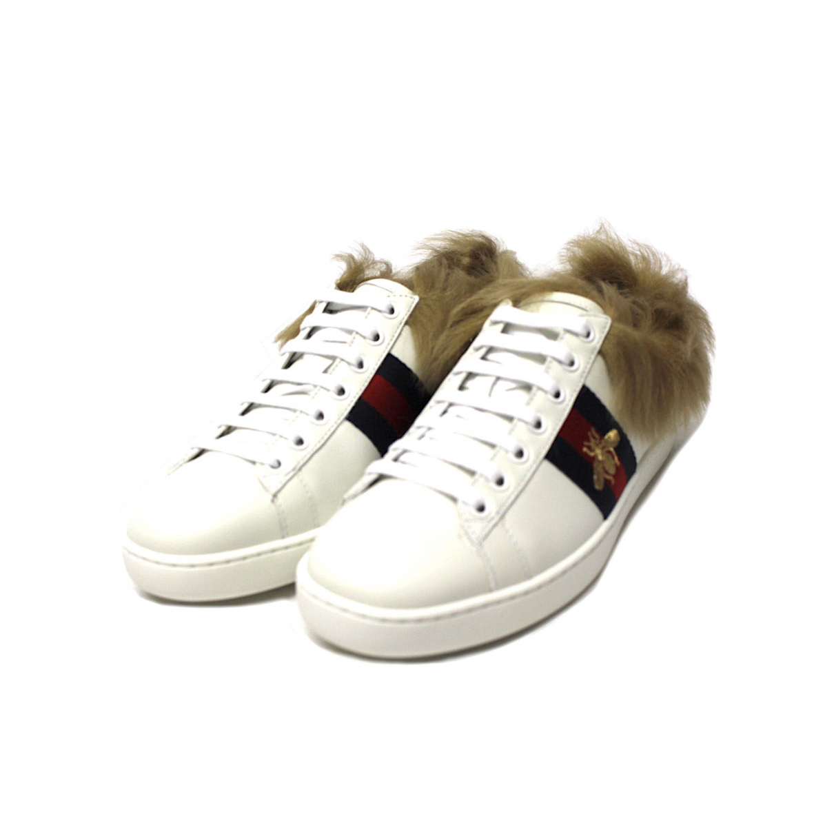 Gucci \N White Leather Trainers for Women 36 IT
