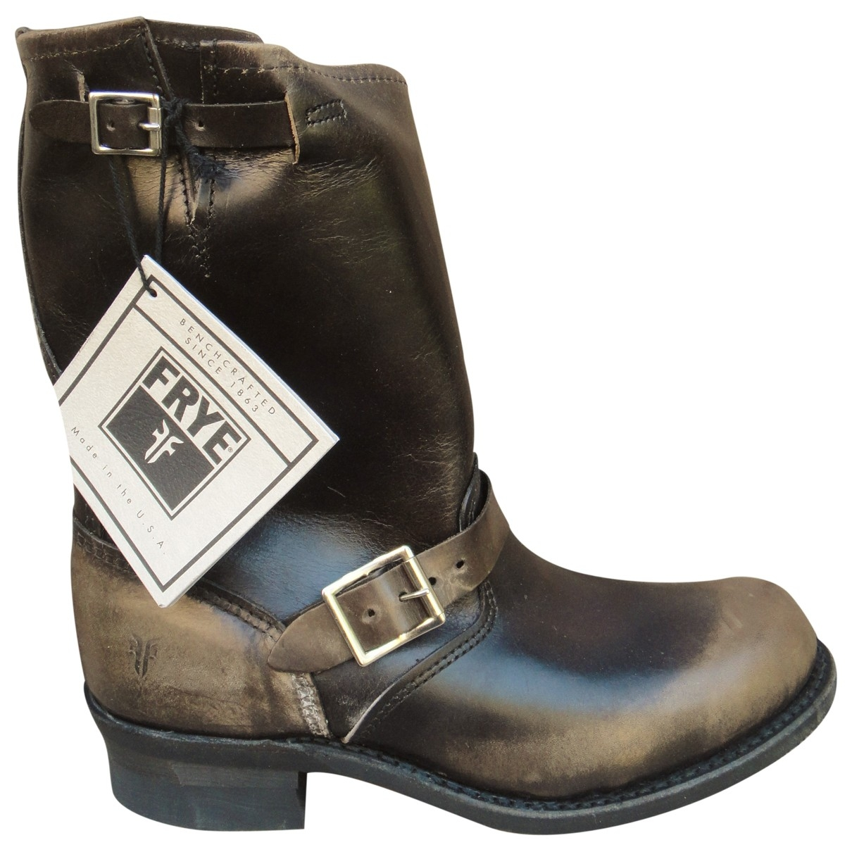 Frye \N Brown Leather Boots for Women 10 US