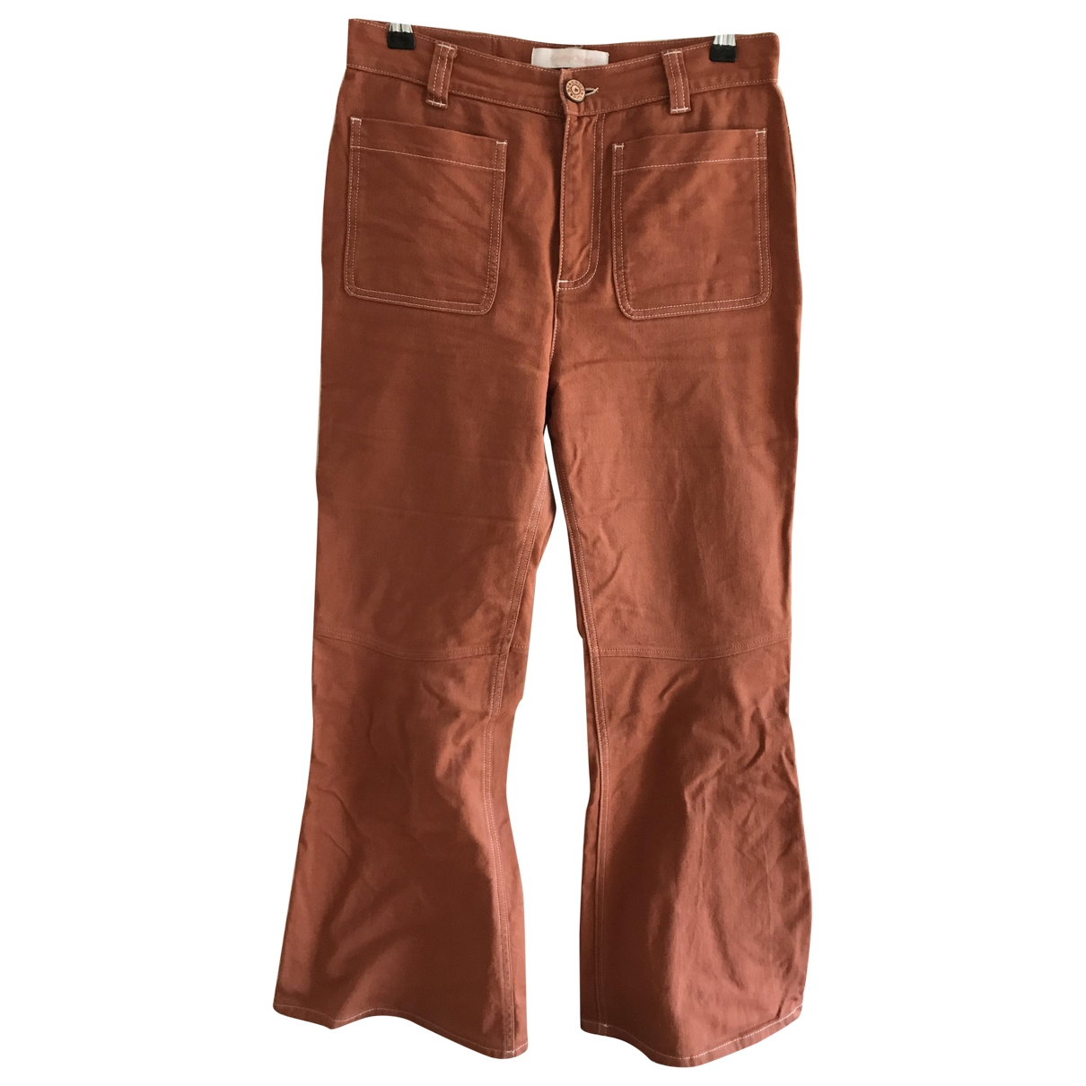 See By Chloé \N Brown Denim - Jeans Trousers for Women 40 IT