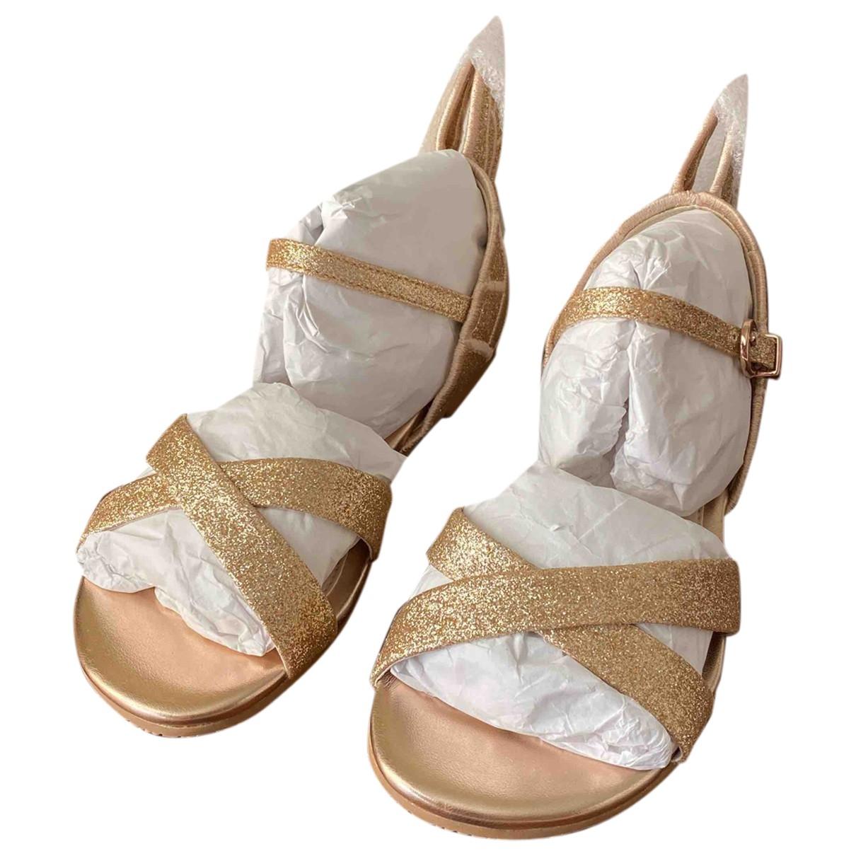 Sophia Webster \N Pink Glitter Sandals for Kids 30 EU