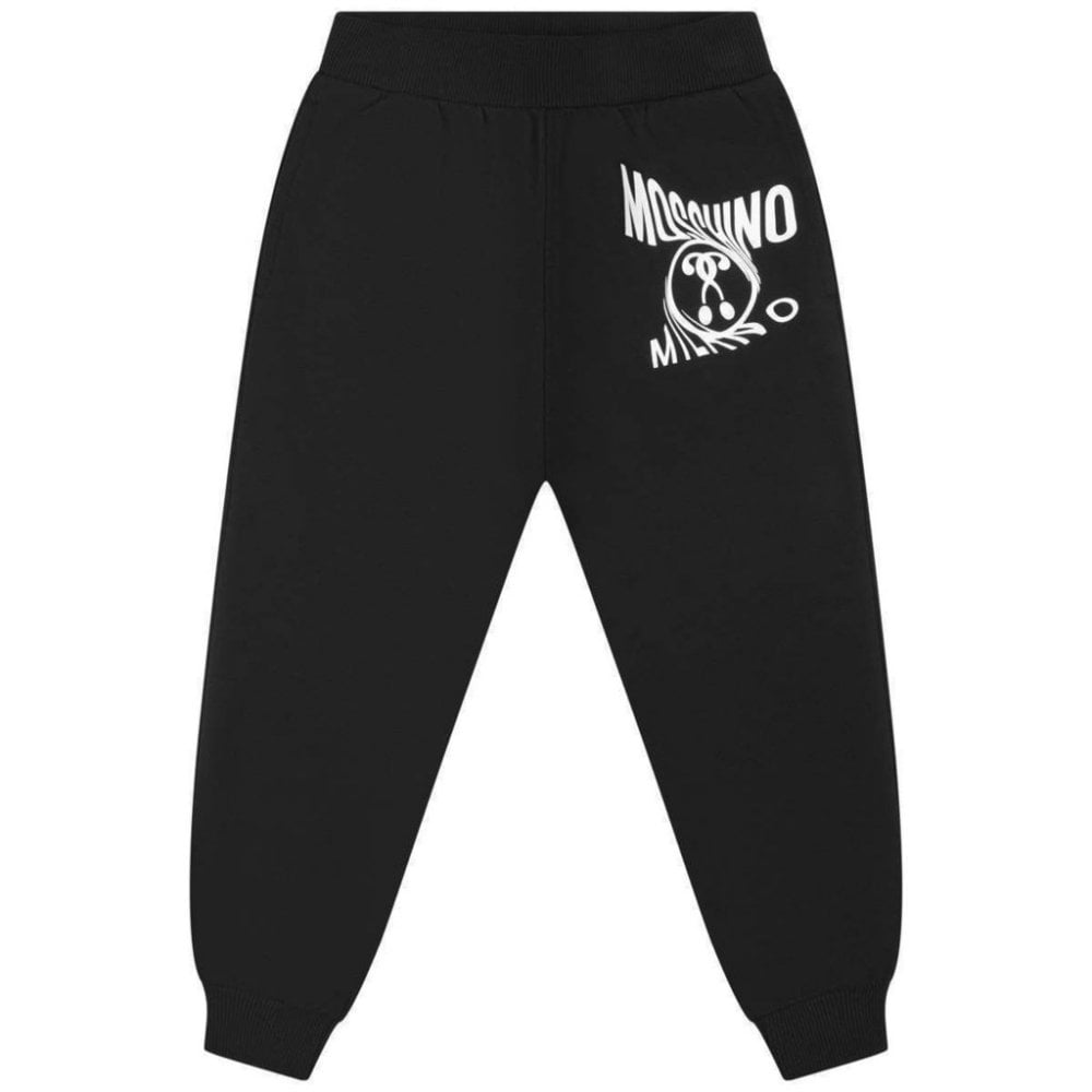 Moschino Joggers Colour: BLACK, Size: 10 YEARS