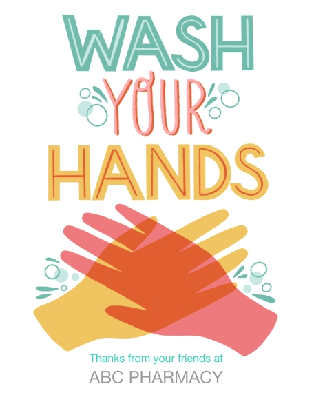 COVID-19 16x20 Adhesive Poster, Home Décor -Wash Your Hands