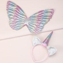 2pcs Toddler Girls Ear Design Hair Accessory