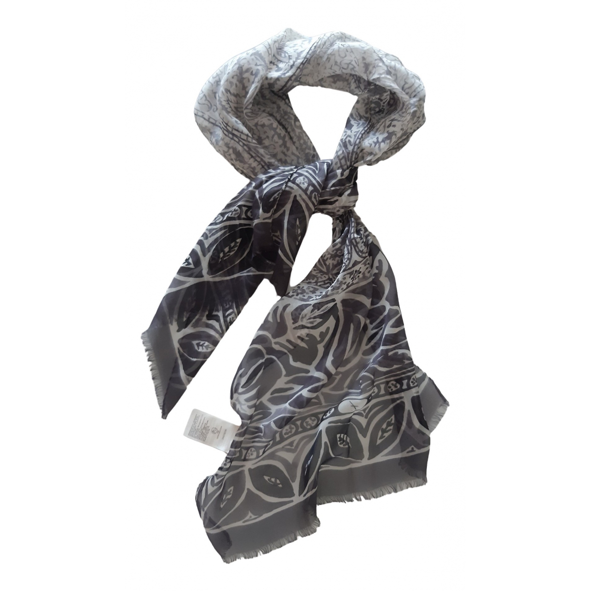 Falconeri \N Grey Silk scarf for Women \N