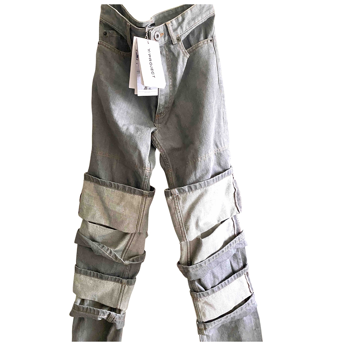 Y/project \N Grey Denim - Jeans Trousers for Women XS International