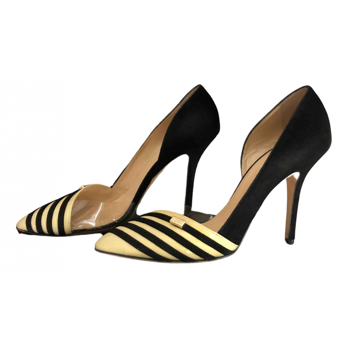Elisabetta Franchi \N Black Suede Heels for Women 39 EU