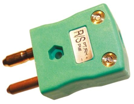 RS PRO ANSI Thermocouple Connector for use with Type R/S Thermocouple Type R/S, Standard, Green