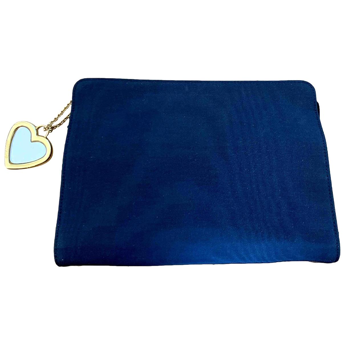 Moschino \N Blue Cloth Clutch bag for Women \N