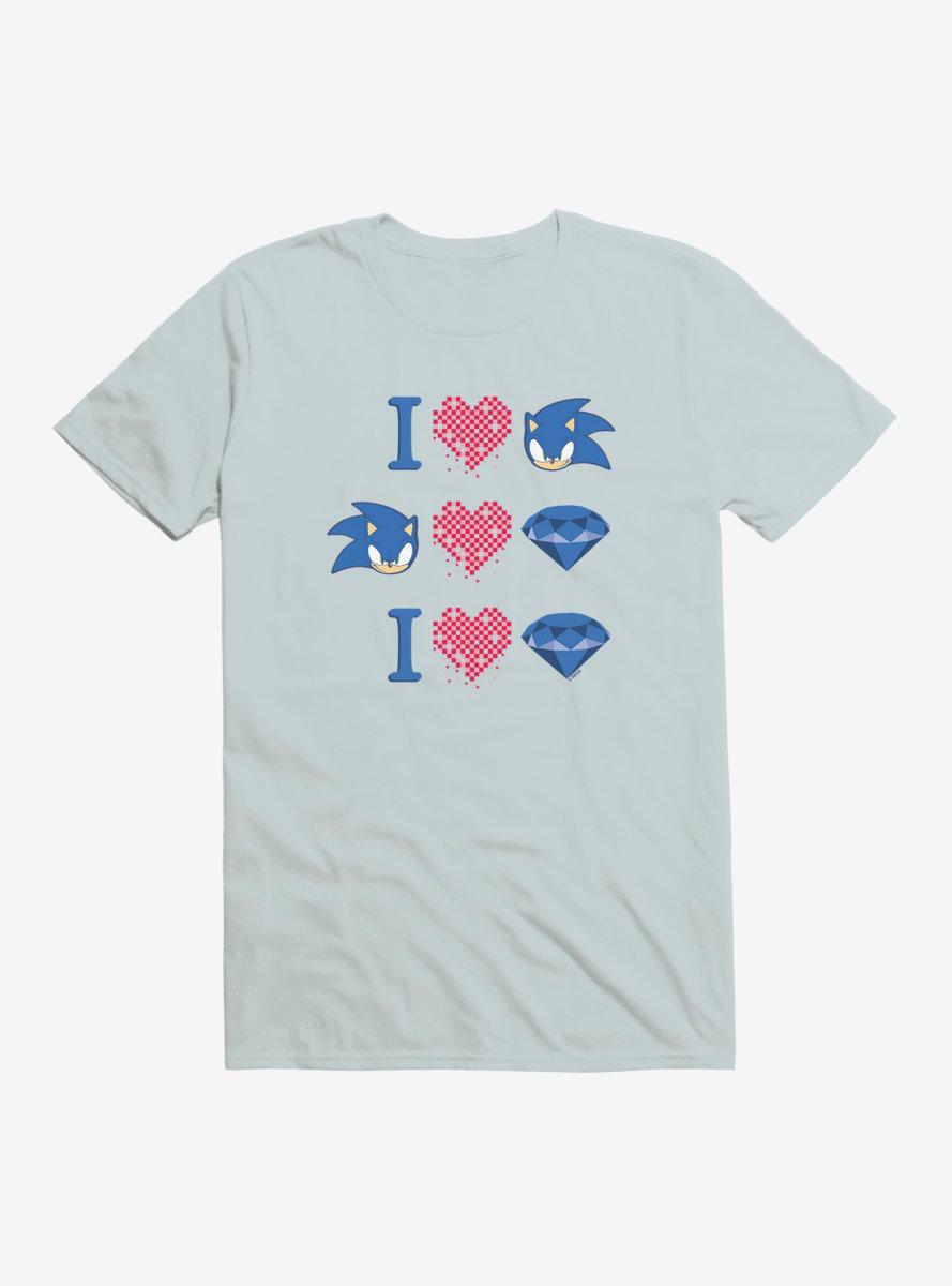 Sonic The Hedgehog Valentine Gaming Icons T-Shirt