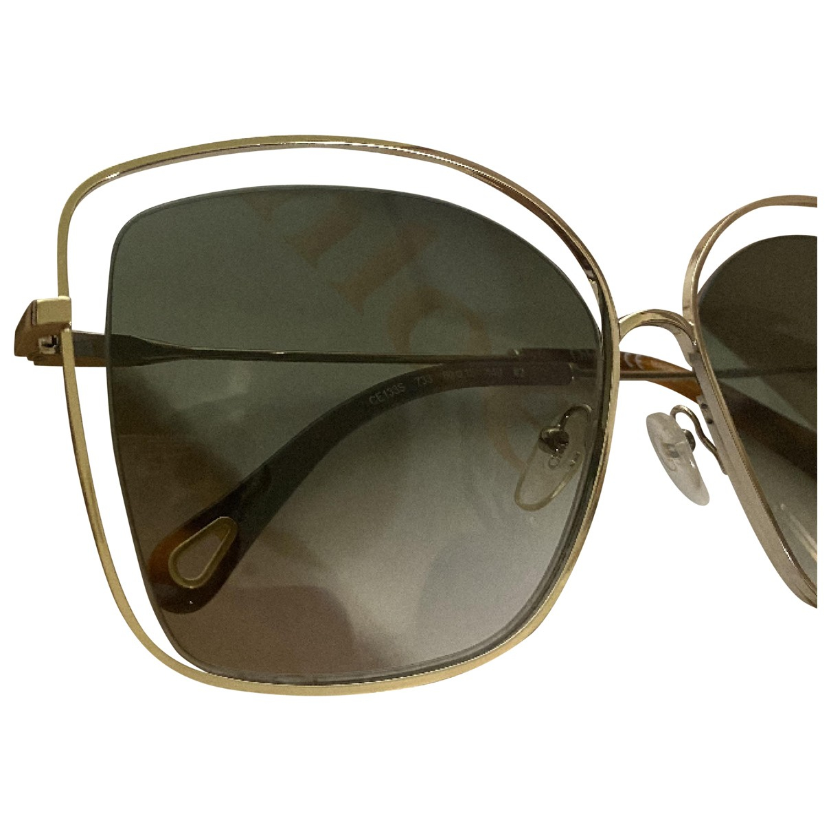 Chloé Carlina Gold Metal Sunglasses for Women \N