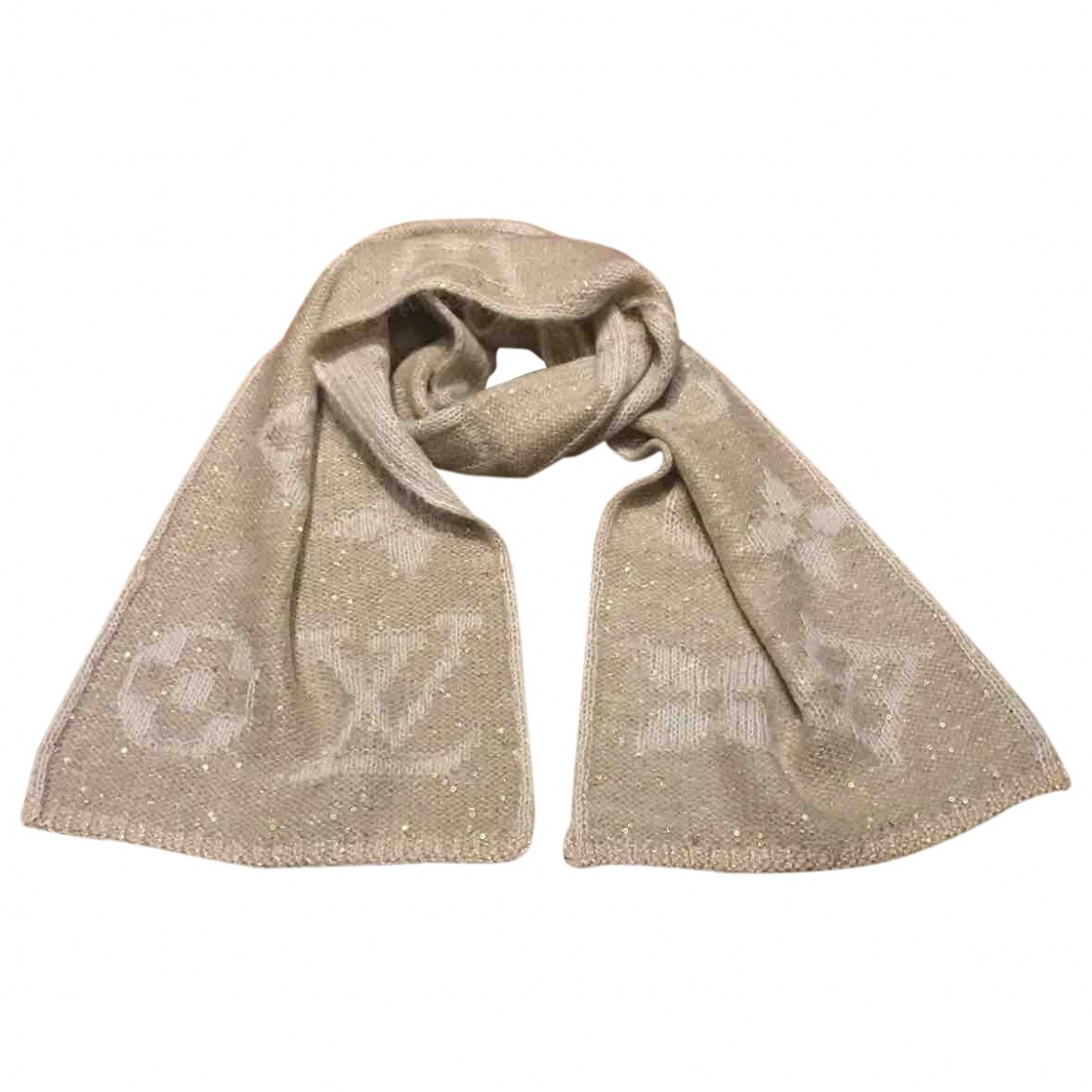 Louis Vuitton \N Beige Wool scarf for Women \N