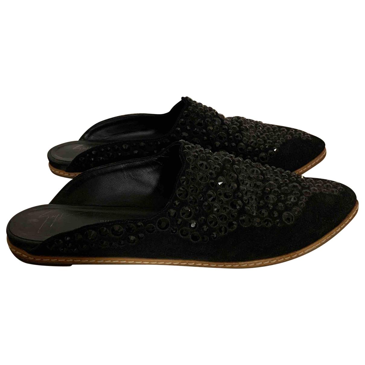 Giuseppe Zanotti \N Black Leather Sandals for Women 41 EU