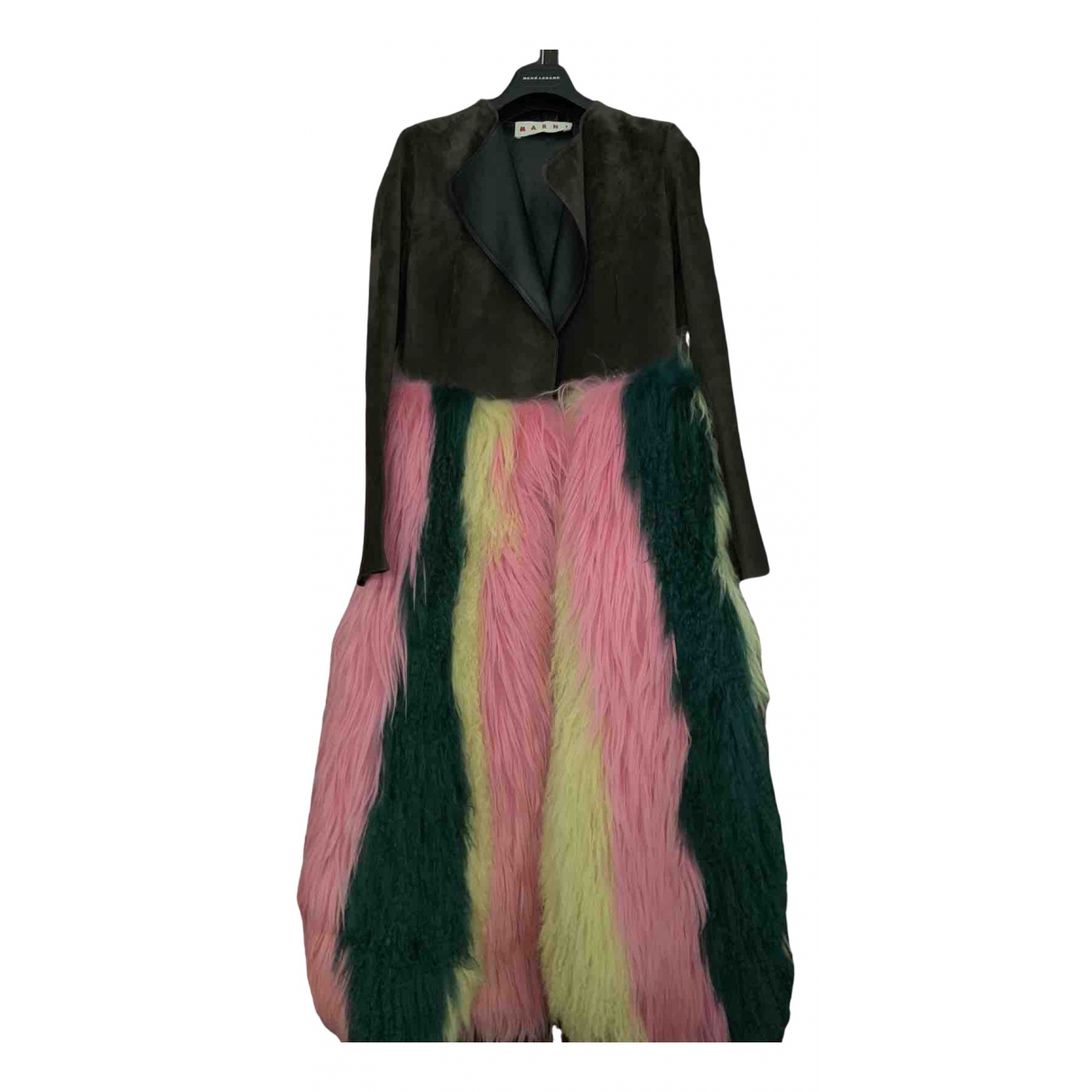 Marni \N Multicolour Leather coat for Women 38 IT