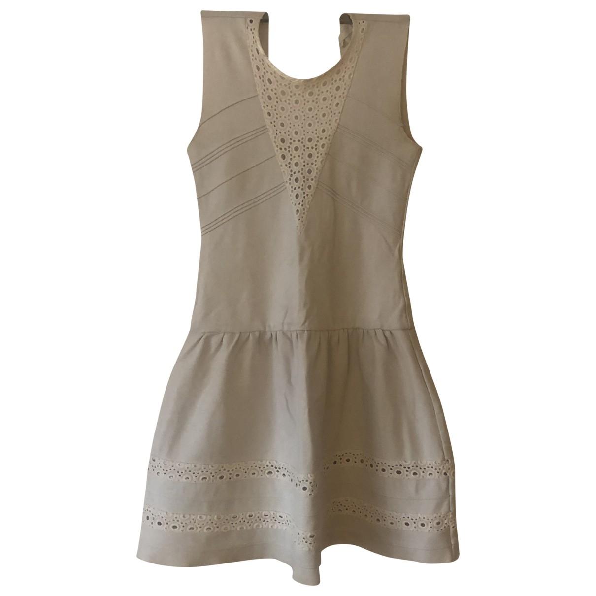 Maje \N White Cotton - elasthane dress for Women 1 0-5