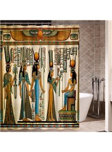 Cleopatra Pattern Waterproof Polyester Material Bathroom Shower Curtain