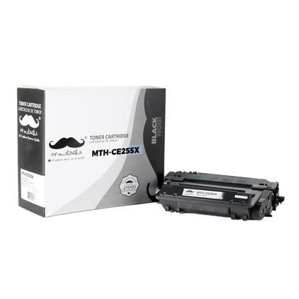 Compatible HP 55X CE255X cartouche de toner noire haute capacité - Moustache®