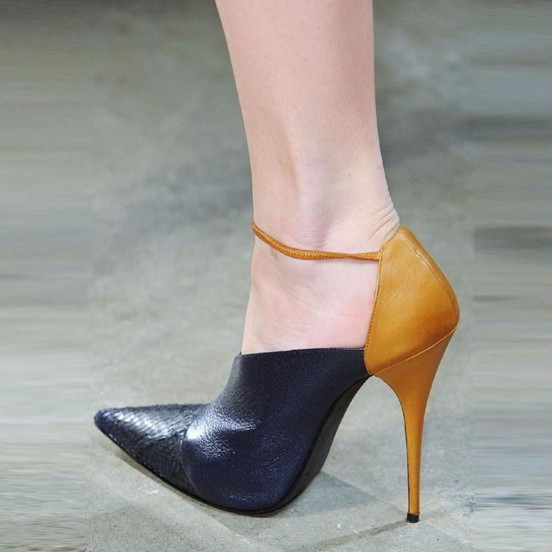 Ericdress OL Color Block Pointed Toe Stiletto Heel Pumps