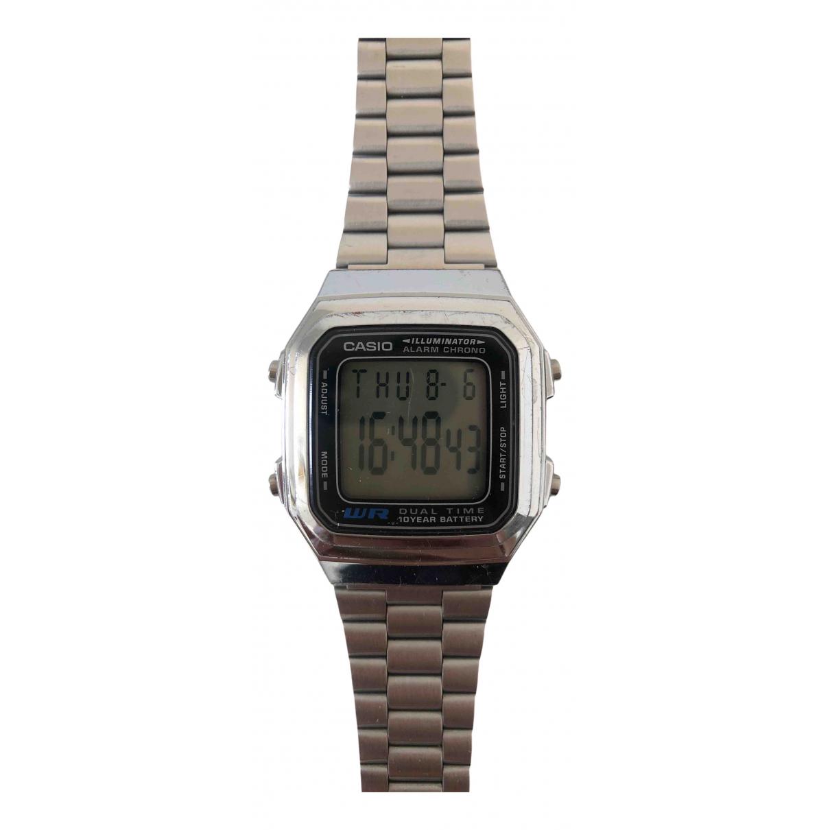 Casio \N Silver Steel watch for Men \N
